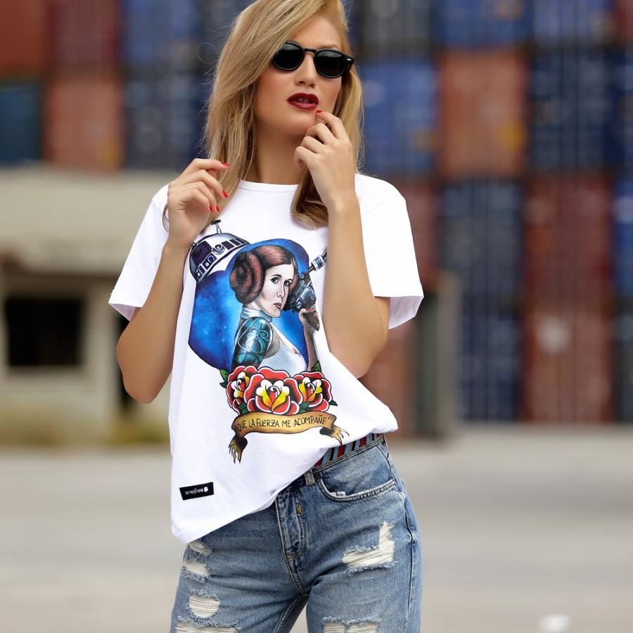 camisetas princesa leia