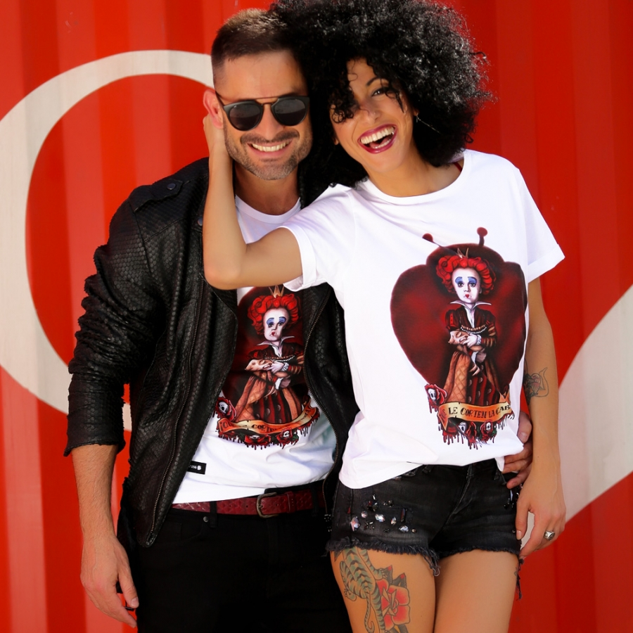 camisetas reina de corazones