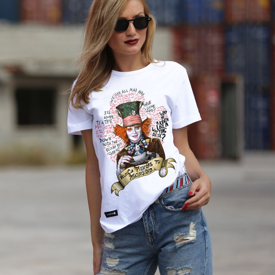 camiseta del sombrerero loco