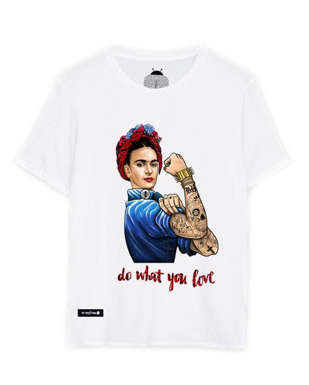 camiseta de frida kahlo blanca
