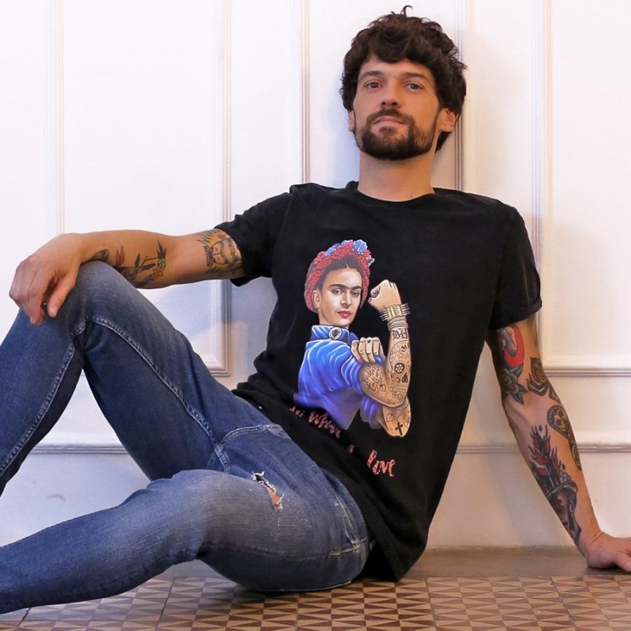 camiseta de frida kahlo
