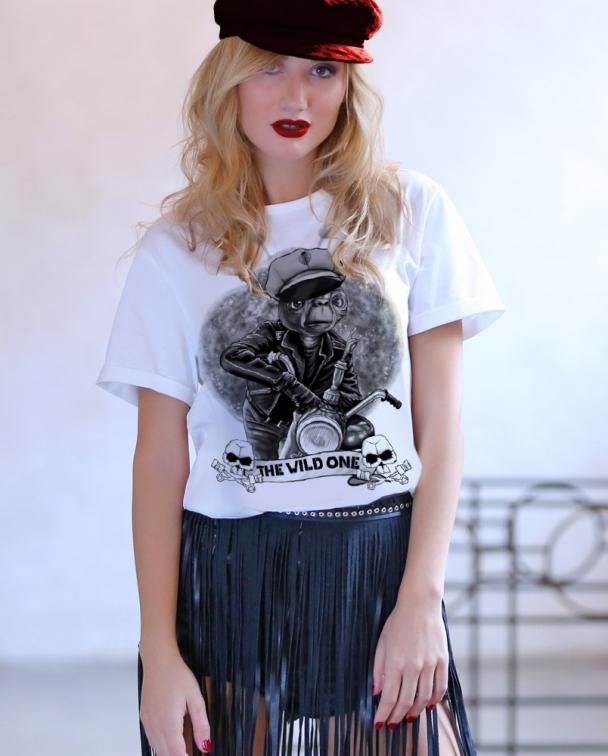 camisetas de ET blanca