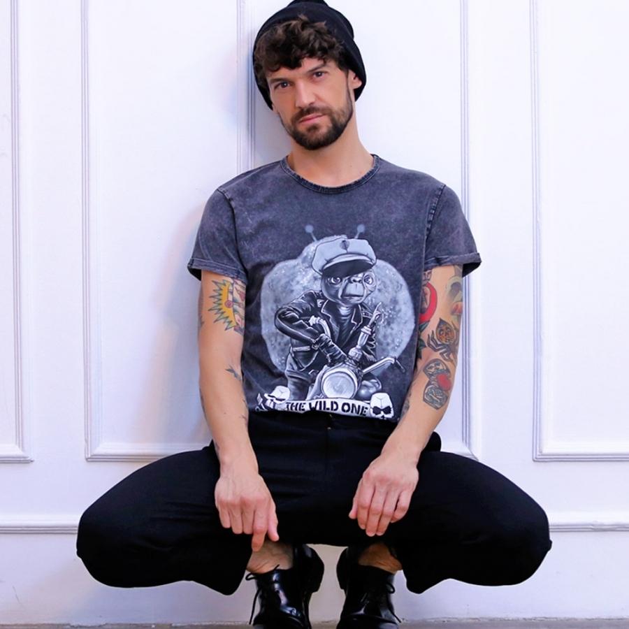 camisetas de ET gris