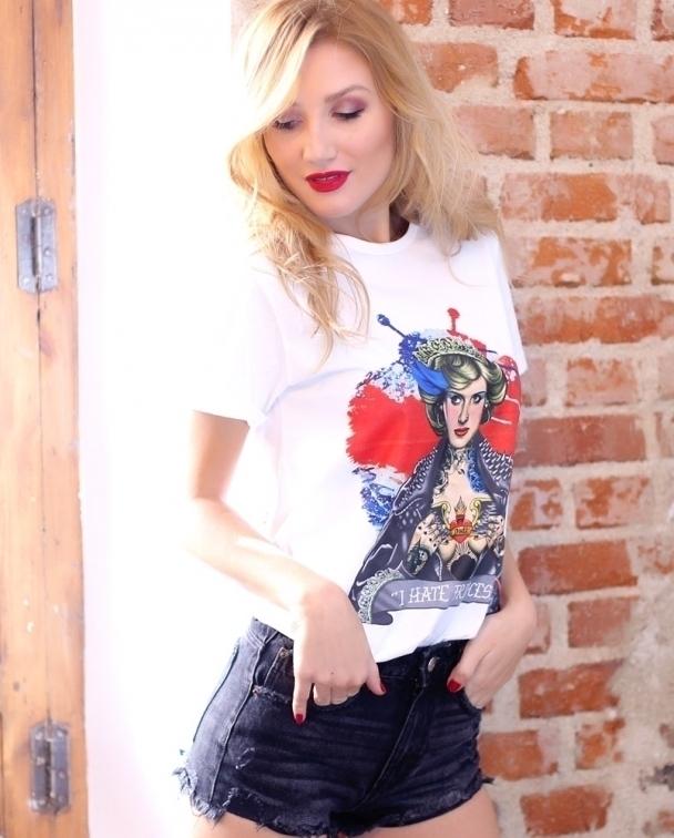 camisetas lady di blanca