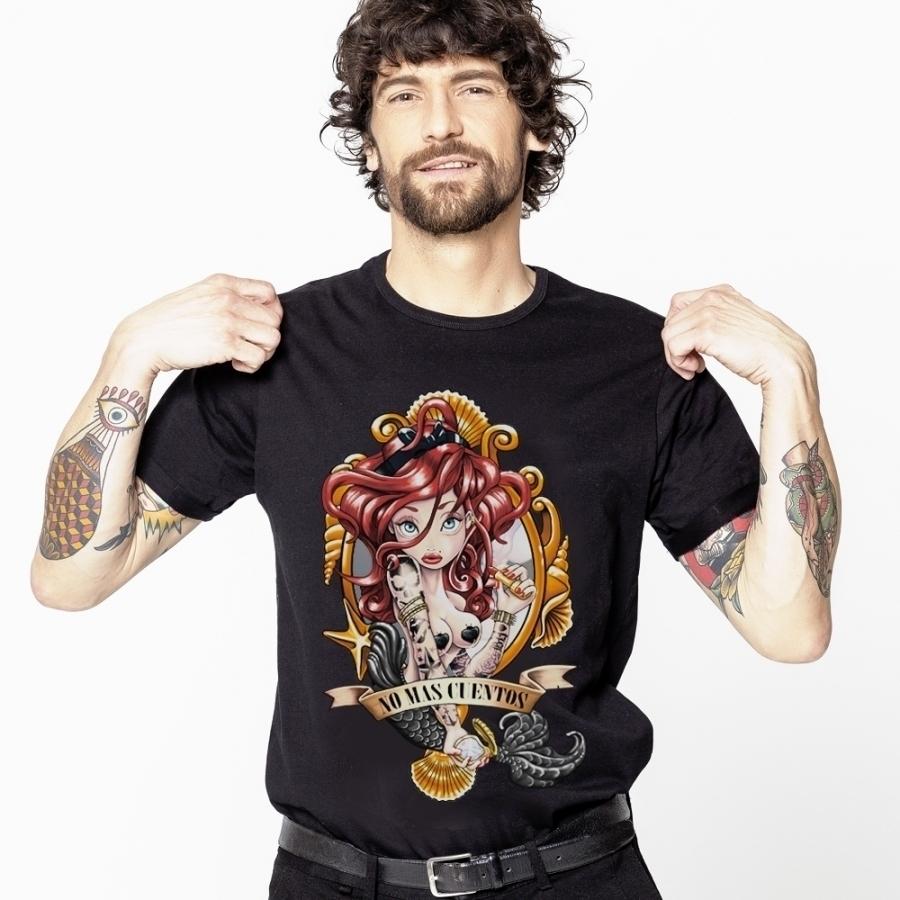 camiseta sirenita negra