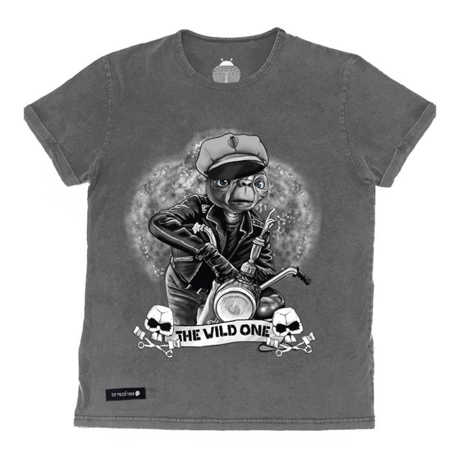 camiseta de ET gris desgastado
