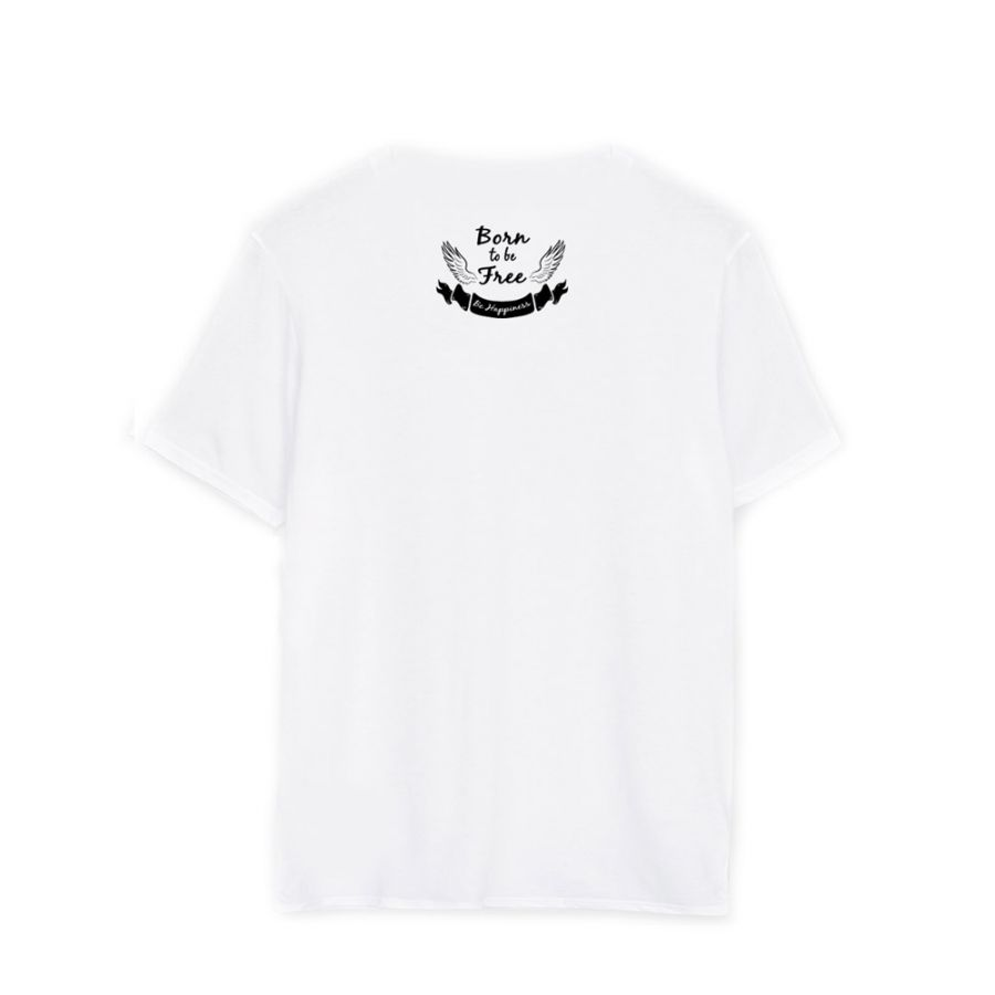 Noami Campbell White back T-shirts