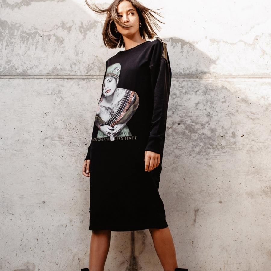 vestido CINDY CRAWFORD negro