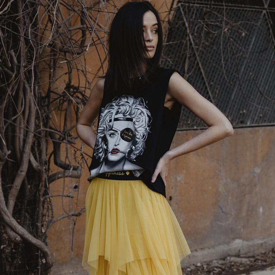 camiseta Madonna Tirantes