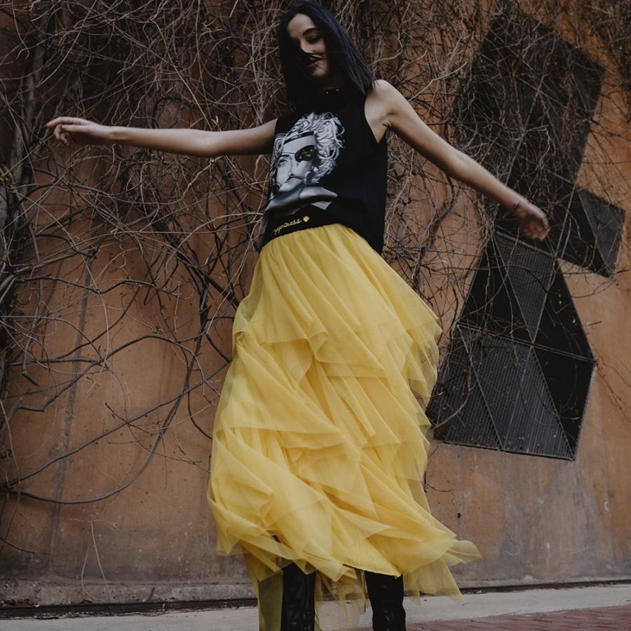 falda tul amarilla be happiness 3