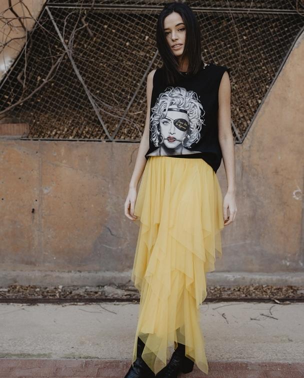 falda tul amarilla be happiness