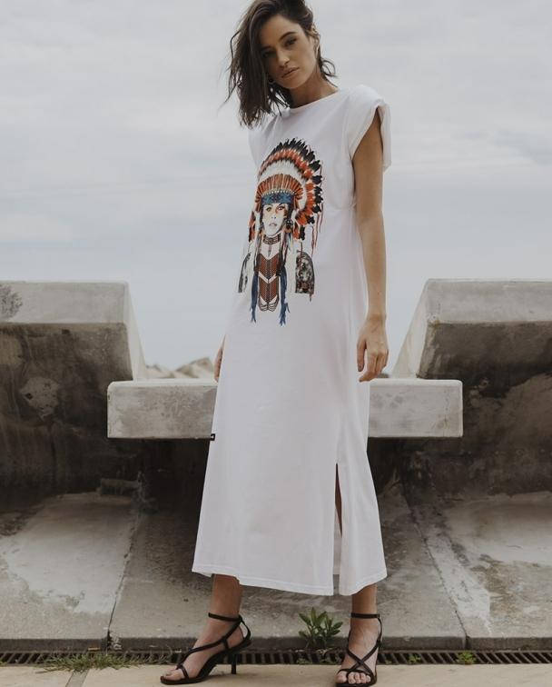 vestido largo brigitte bardot