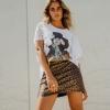 minifalda animal print